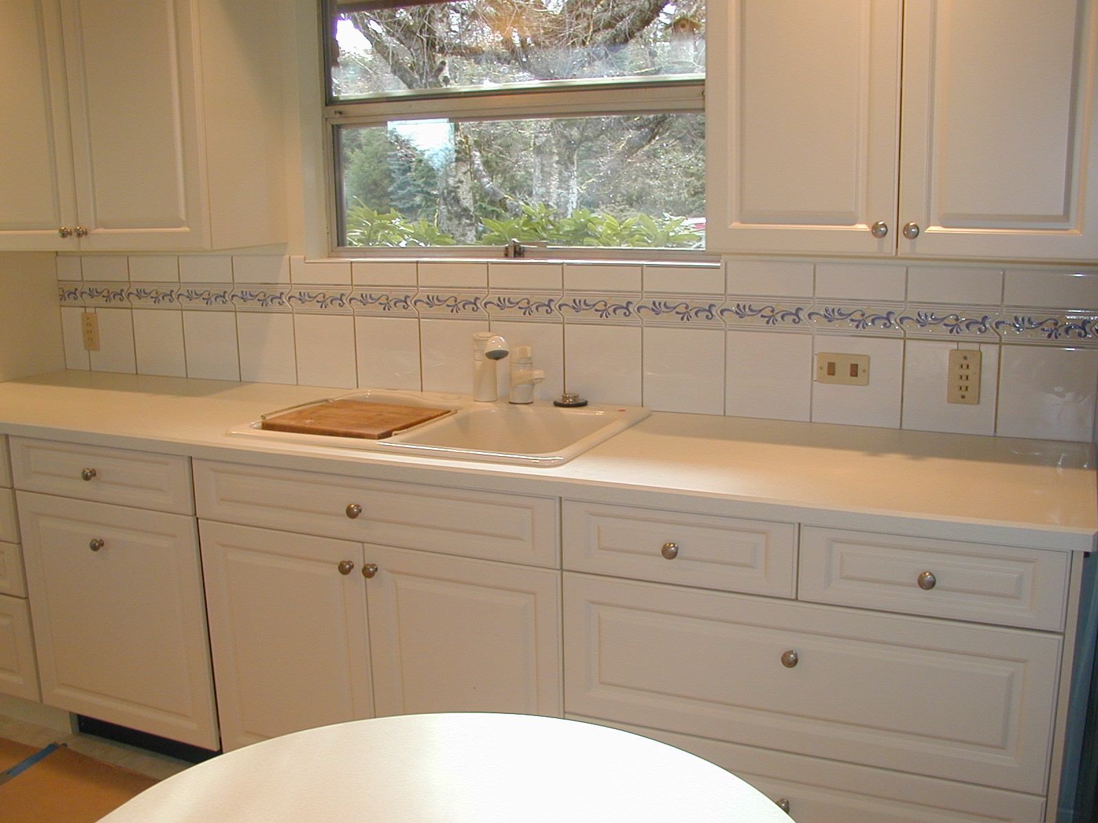 white tile kitchen countertops. Simple White Details Throughout White Tile Kitchen Countertops U